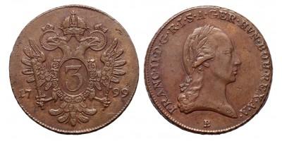 I.Ferenc 3 krajcár 1799 B R!