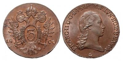 I.Ferenc 3 krajcár 1800 G