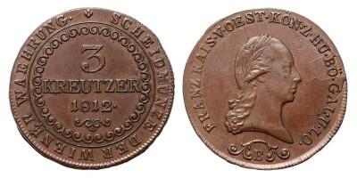 I.Ferenc 3 krajcár 1812 B