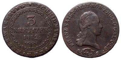 I.Ferenc 3 krajcár 1812 G