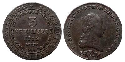 I.Ferenc 3 krajcár 1812 O