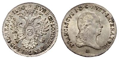 I.Ferenc 3 krajcár 1820 B