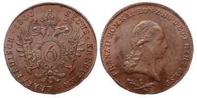 I.Ferenc 6 krajcár 1800 C