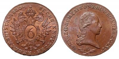 I.Ferenc 6 krajcár 1800 E