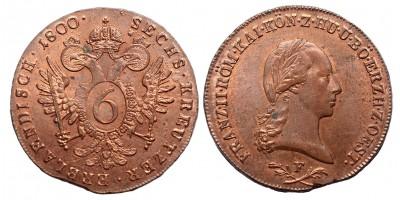 I.Ferenc 6 krajcár 1800 F
