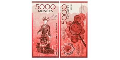 5000 Moneta utalvány